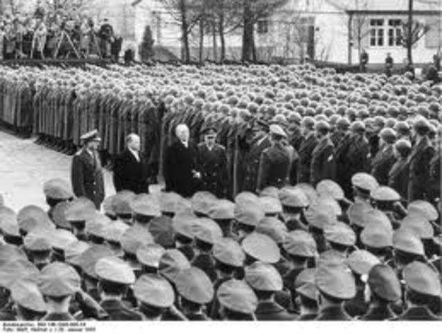 Hitler reinstates draft