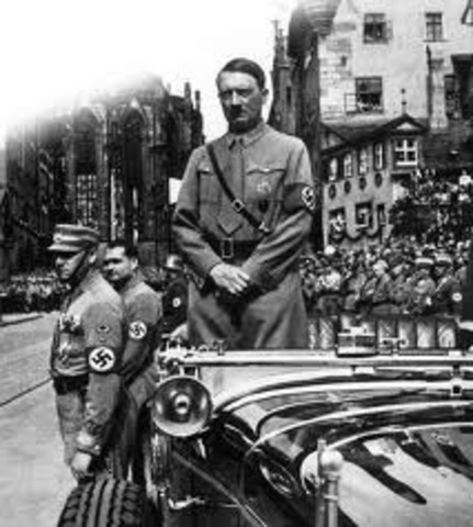 Hitler violates the Versailles Treaty by renewing the compulsory military draft.