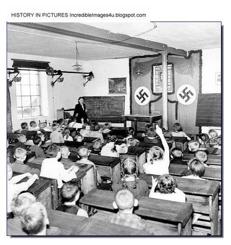 """The Ministry of Science and Education prohibits teaching by """"non-Aryans"""" in public schools and bans private instruction by Jewish teachers."""