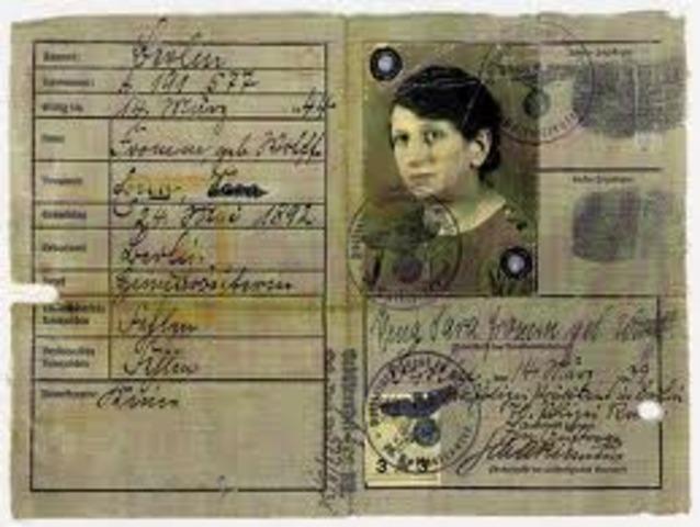 Jews travelling passports