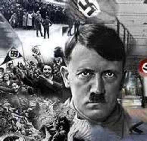 Adolph Hitler declares himself president and chancellor of the Third Reich after the death of Paul von Hindenburg.October First major wave of arrests of homosexuals occurs throughout Germany, continuing into November.
