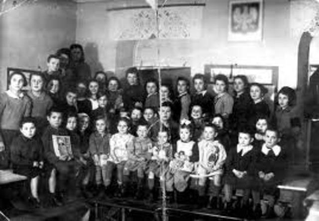 Jewish Children expelled from school.