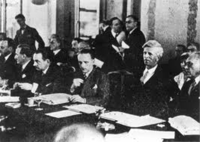 Representatives from thirty-two countries meet at Evian, France, to discuss refugee policies. Most of the countries refuse to let in more Jewish refugees