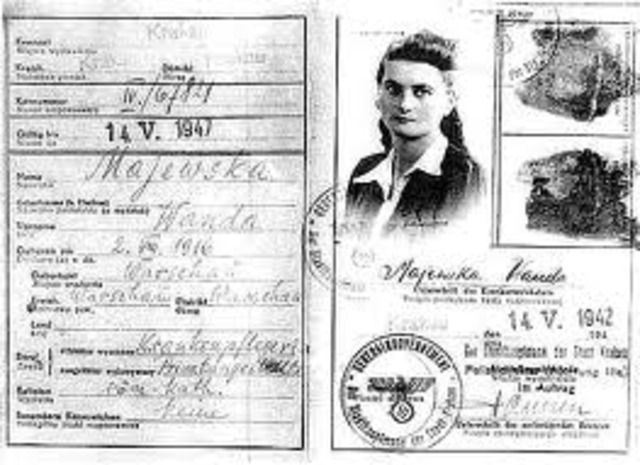 The German government announces Jews must carry identification cards.