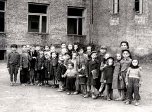 All Jewish children are expelled from German schools and can attend only separate Jewish schools.