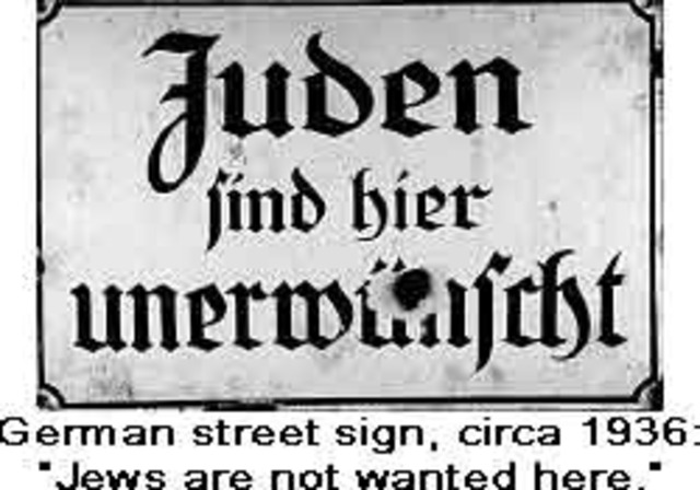 """""""No Jews"""" signs posted all around germany"""