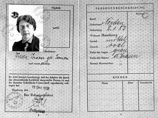 Jewish passports limited