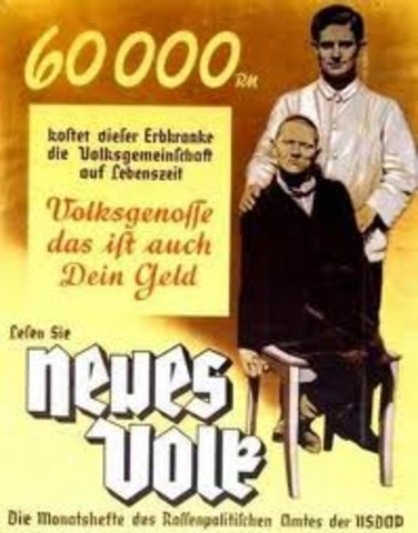 Hitler begins euthinasia on disabled persons