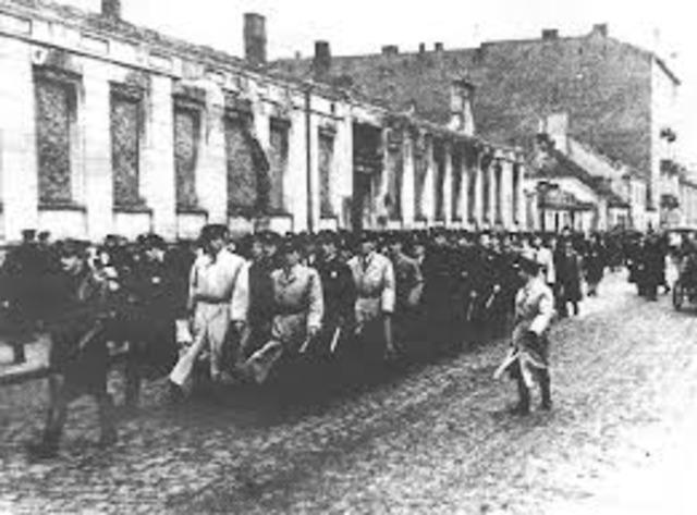 First Polish ghetto established