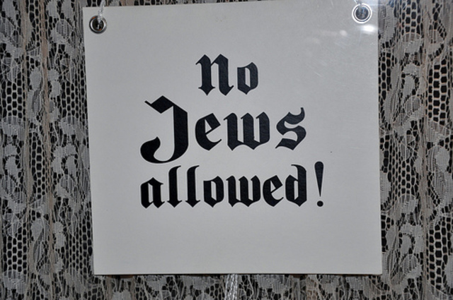 """""""No Jews"""" signs and nitices are posted outside German towns and villages, and outside shops and rastaruants."""