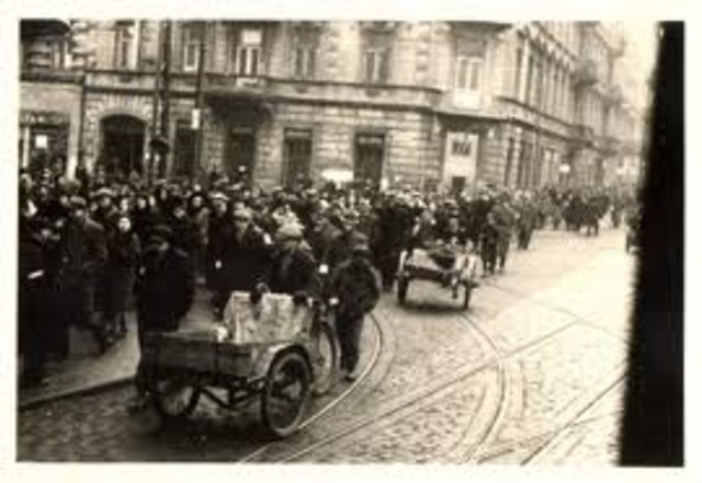 Warsaw ghetto gets 500,000 occupants