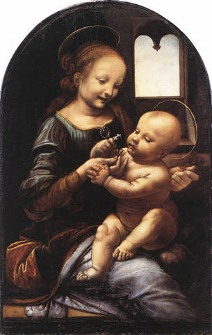 Madonna with a Flower (The Benois Madonna)
