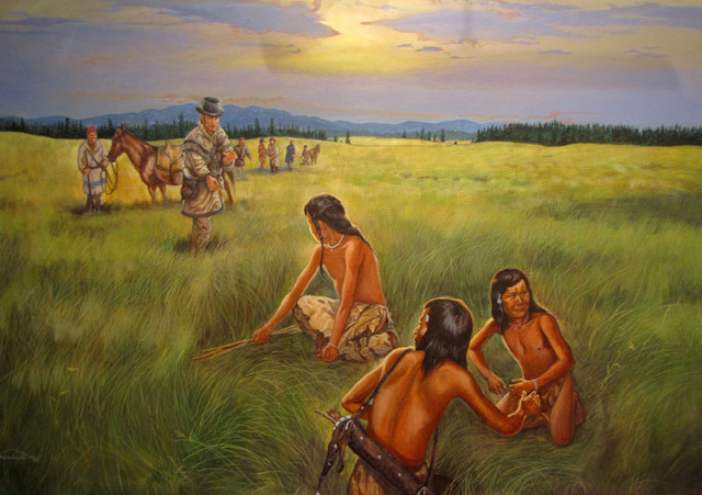 The expedition comes across a Nez Perce village