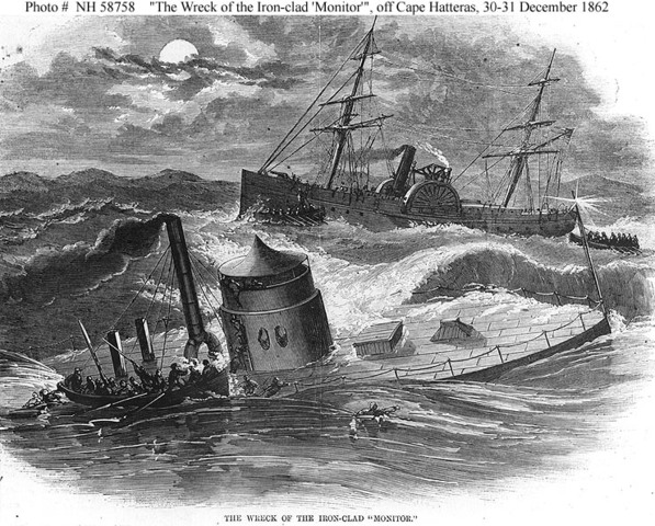 The Battle Between Two Ironclads