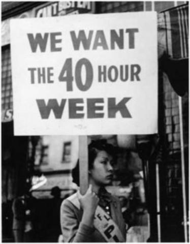40 hour week established.