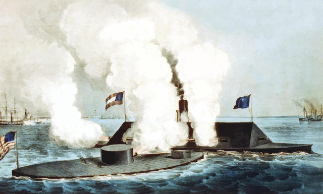 Battle Between Ironclad Ships Ends in a Draw
