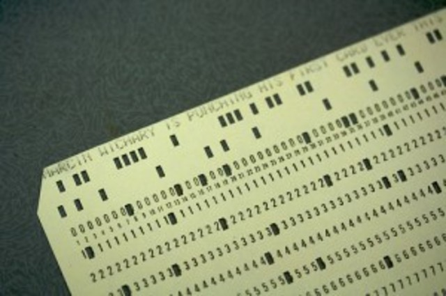 Early form of punch cards begin to be used in textile looms