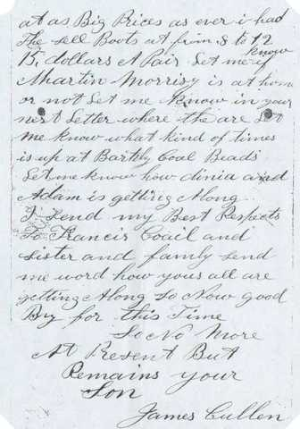 Letter to his wife on January 4 1863