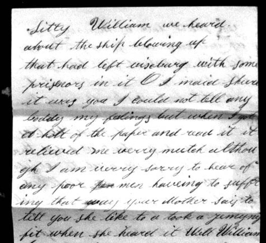 Letter to his wife on March 24 1863