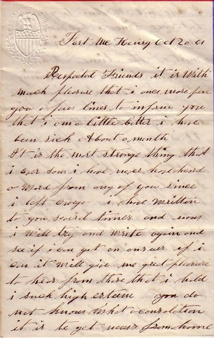 Letter to his wife on April 14 1863