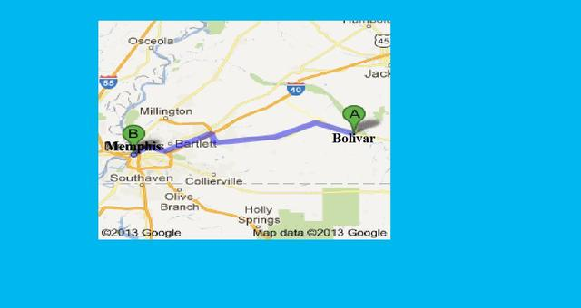 Marched to Bolivar Tennessee from Memphis