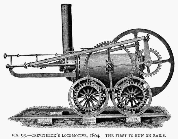 first full-sized steam locomotive