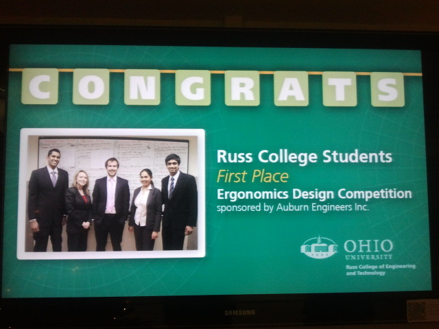 6th Annual Ergonomic Design Competition