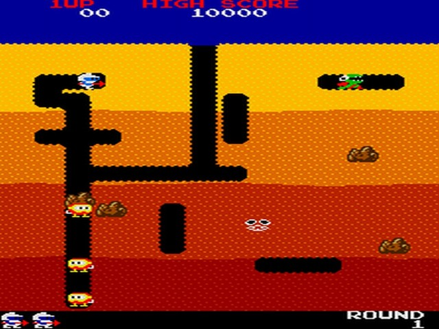 Dig Dug - First Game Advertised in the Cinema