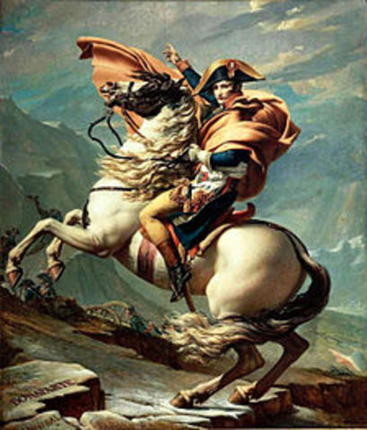 Napoleon returns to Paris with troops hoping to regain his empire