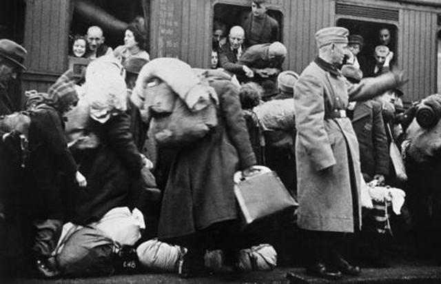 Nazi's begin the deportation of Jews