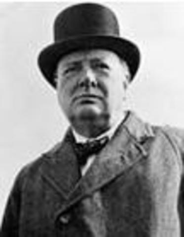 Winston Churchill Becomes The New Priminister Of Britain