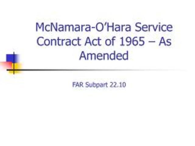 McNamara-O'Hara Service Contract Act
