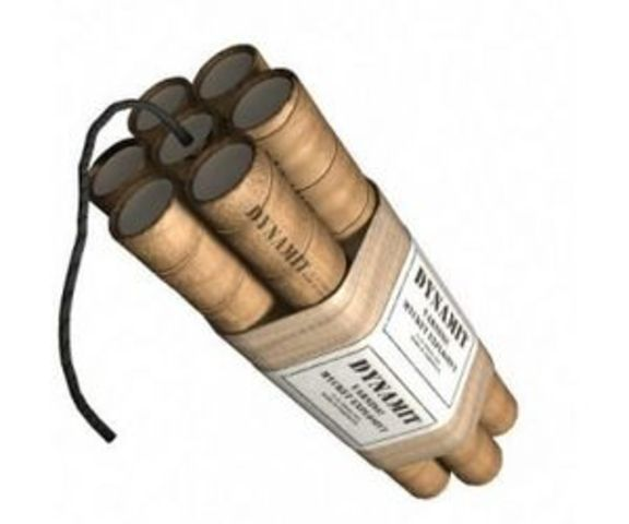 Dynamite- Invented by Alfred Noble