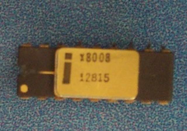 El primer microprocesador de 8 bits fue el Intel 8008,