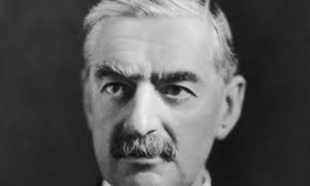 Neville Chamberlain resign