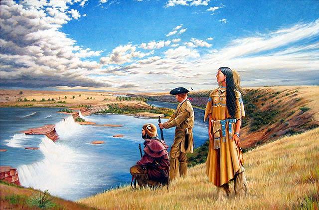 Toussaint Charbonneau and Sacagawea