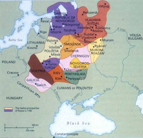Kievan Rus is formed