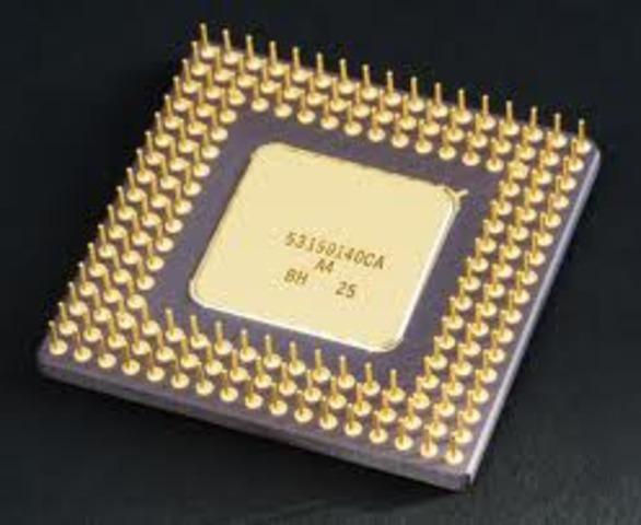 aparición del microprocesador