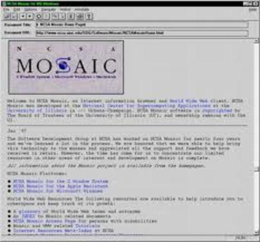 Internet se expande y creacion del primer explorador web