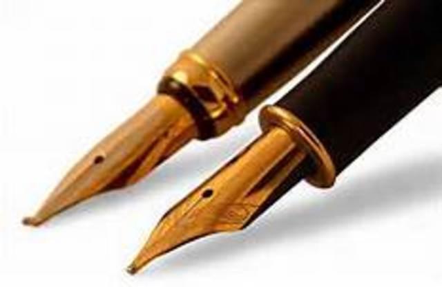 First Fountian pen