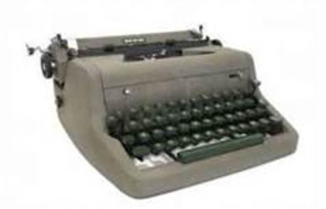 First Type writer