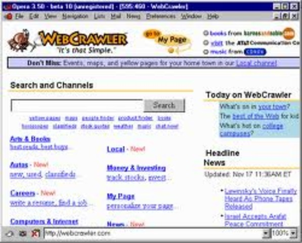 Primer buuscador web