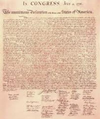 Adoption of the Declaration of Independence**