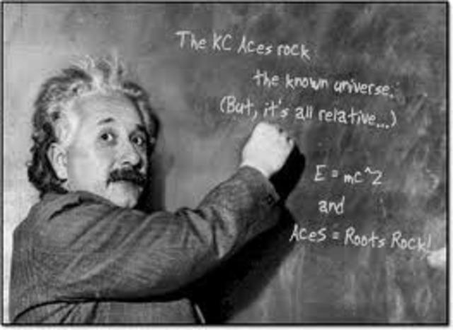 Albert Einstein Writes Theory of Relativity