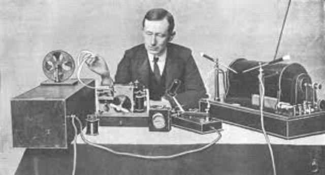 Guglielmo Marconi Sends First Radio Signal