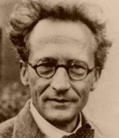 Erwin Schrodinger Writes Schrodinger's Wave Equation