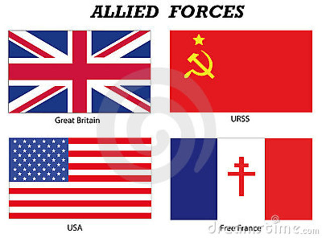 Allied forces retreat