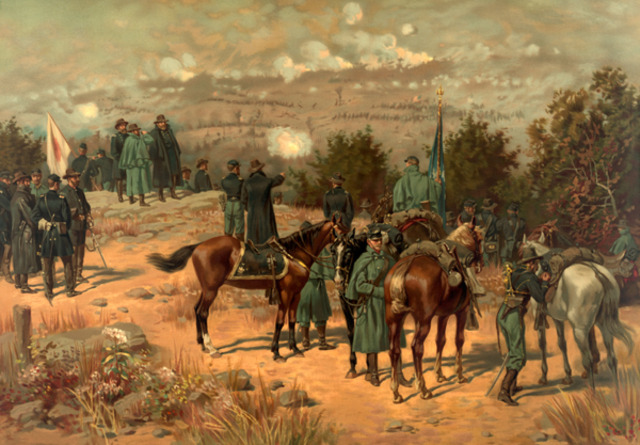 Union forces win CHattanooga.