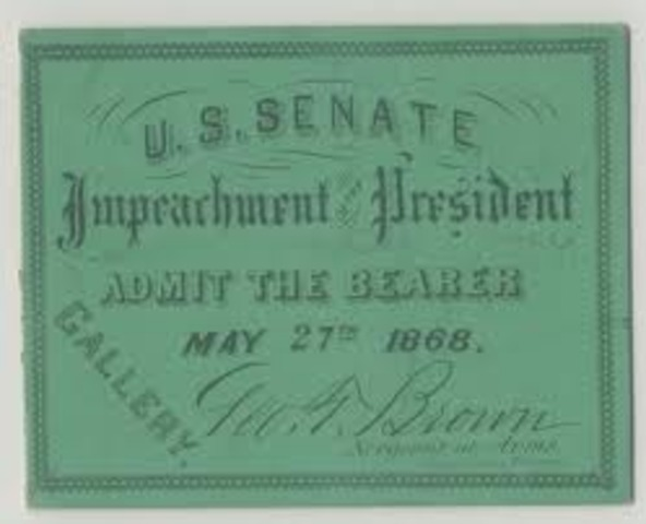 President Andrew Johnson Impeached
