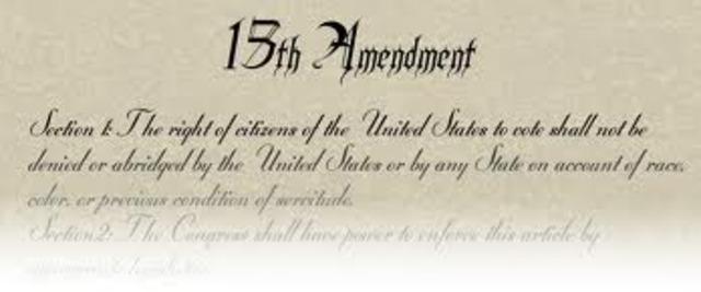 Ratification of the fifteenth Amendment